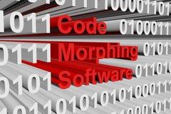 Codifique o software Morphing ilustração do vetor