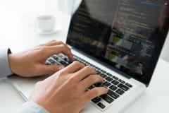 coding royaltyfri fotografi