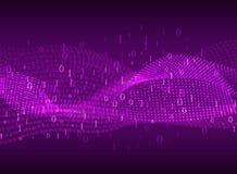 coding Abstrakt purpurfärgad bakgrund med suddiga linjer och nummer Royaltyfri Bild