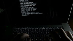 Coding code program programming compute coder work write software hacker develop man concept stock video