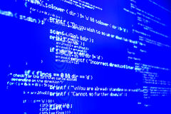 Programming code... Stock Photography