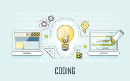 Coding concept Royalty Free Stock Images