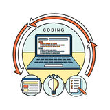 Coding concept Royalty Free Stock Photos
