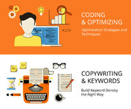 Coding and copywriting Royalty Free Stock Photos