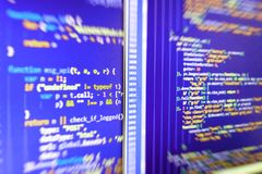 Coding cyberspace concept. Developer occupation work photo royalty free stock photo