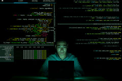 Coding in the dark Stock Images