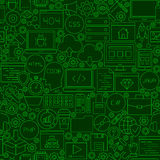 Coding Green Line Seamless Pattern Stock Images