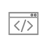 Coding icon vector. On the white background. Vector illustration Stock Photography