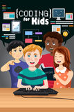 Coding for Kids Poster Royalty Free Stock Images
