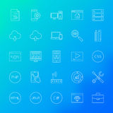 Coding Line Icons Royalty Free Stock Photo