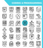 Coding & Programming concept detailed line icons Royalty Free Stock Photos