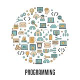 Coding and programming concept. Software development and computer technology Royalty Free Stock Photography