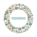 Coding and programming concept. Software development and computer technology Stock Photos
