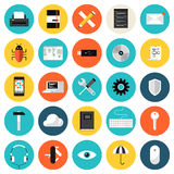 Coding and programming flat icons set Stock Photo