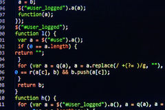 Coding programming source code screen. Stock Photography