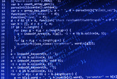 Coding programming source code screen. Stock Photos