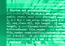Coding programming source code screen. Royalty Free Stock Photos