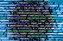 Coding programming source code screen. Stock Images