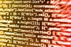 Coding programming source code screen. Royalty Free Stock Image