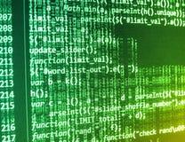 Coding programming source code screen. Royalty Free Stock Image