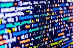 Coding programming source code screen. Royalty Free Stock Photography