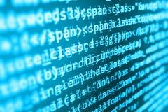 Coding programming source code screen. Royalty Free Stock Photos