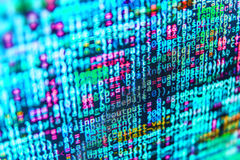 Coding programming source code screen. Royalty Free Stock Images