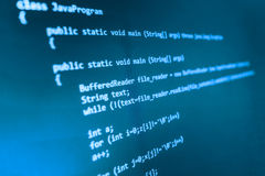 Coding programming source code screen. Colorful abstract data display. Software developer web program script. Programming code abstract screen of software Stock Images