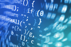 Coding programming source code screen. Colorful abstract data display. Software developer web program script. Programming code abstract screen of software Royalty Free Stock Photo