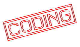 Coding rubber stamp Royalty Free Stock Photography
