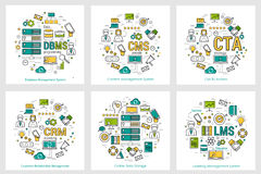 CODING - six square concepts 13-18 Royalty Free Stock Photos