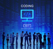 Coding Software Programming Technology Concept Stock Photos
