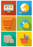 Coding and web interface icon set Stock Images