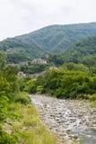 Codiponte,老村庄在托斯卡纳 免版税库存图片