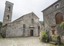 Codiponte,老村庄在托斯卡纳 免版税图库摄影