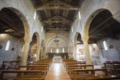 Codiponte (托斯卡纳),中世纪教会 库存照片