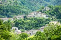 Codiponte, stara wioska w Tuscany Zdjęcia Stock