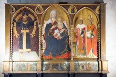 Codiponte (Tuscany), medeltida kyrka Royaltyfri Bild
