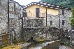 Codiponte, vieux village en Toscane Photographie stock libre de droits