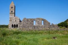 Free Codrongianos, Sardinia, Italy, Europe, Basilica Of The Holy Trinity Of Saccargia Stock Photo - 122369750