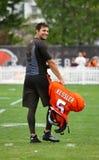 Cody凯斯勒2016褐色美国橄榄球联盟训练营 免版税库存图片