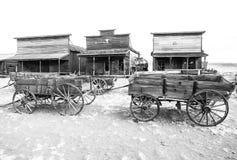 老西部,老足迹镇, Cody,怀俄明,美国 免版税库存照片