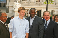 Cody Gifford, Carl Banks, en Frank Gifford Royalty-vrije Stock Foto