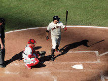 Cody Ross steps into the batters box Royalty Free Stock Photos