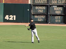 Cody Ross throws ball in the outfield Stock Images