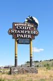 Cody Stampede Park-Zeichen Lizenzfreies Stockfoto