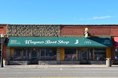 Waynes Boot Shop Cody Wyoming Royalty Free Stock Photos