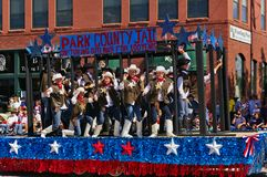 Cody, Wyoming, USA - July 4th, 2009 - Parade float of the Park County Jail at the Independence Day Parade royalty free stock photography