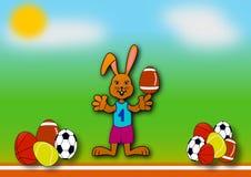 Coelhinho da Páscoa como um atleta ilustração do vetor
