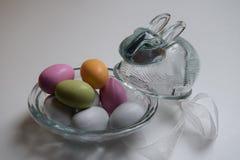 Coelhinho da Páscoa de vidro Fotografia de Stock